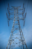 Power pylons and wires Royalty Free Stock Photos