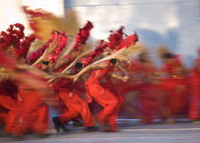 Power Red. A panned shot taken during a local Philippines festival Stock Photos
