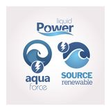 Power - Renewable - Ecology - Green icon set Stock Photography