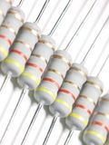Power resistors. Some powerful power resistors on a light background Stock Photo