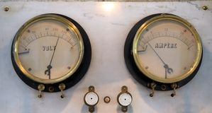 Power retro meter stock photography