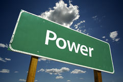 Power Road Sign stock photos