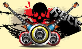 The power of rock music vector illustration