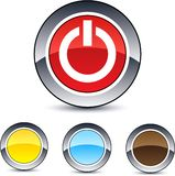 Power round button. Royalty Free Stock Image