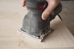 Power Sanding Stock Image