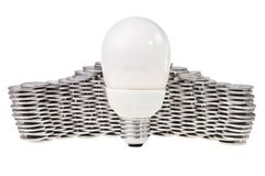 Power saving energy lightbulb. Royalty Free Stock Images