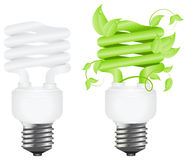 Power saving lamps Stock Image