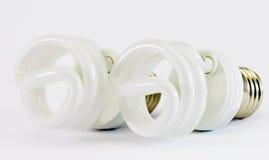 Power saving spiral lamps stock image