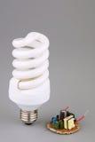 Power saving up bulb Stock Photography