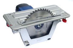 Power saw. On a white background close up Royalty Free Stock Photos