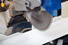 Power Saw Cutting Royalty Free Stock Image