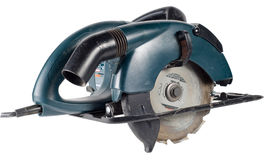 A power saw, isolated with clipping path Stock Images