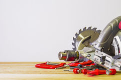 Power saw and other hand tools Royalty Free Stock Image