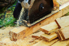 Power saws wood Stock Photos