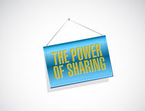 The power of sharing banner illustration. Design over a white background Royalty Free Stock Images