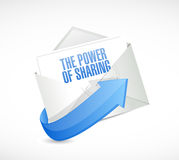 The power of sharing email illustration Royalty Free Stock Images