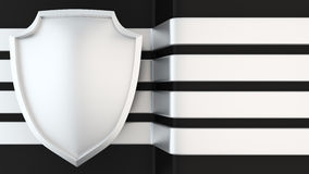 Power shield banner Stock Photography