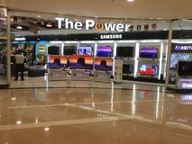 The power Shop TV Electronics shopping mall Stock Photo