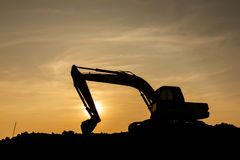 Power shovel on Construction site Stock Photography