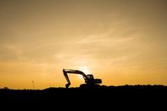 Power shovel on Construction site Royalty Free Stock Photos