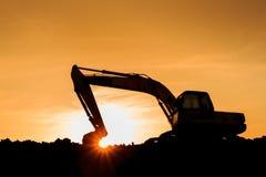 Power shovel on Construction site Stock Image