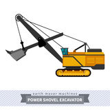 Power shovel excavator for earthwork operations Stock Images