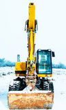 Power shovel  in snow Stock Photography
