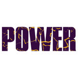Power sign. Vector power  poster with double exposure effect Stock Photo