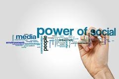 Power of social word cloud Stock Photos