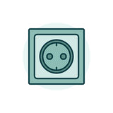 Power socket colorful icon Royalty Free Stock Images
