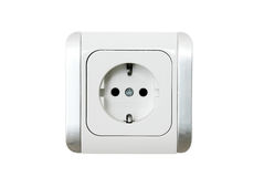 Power Socket European (Flat) Royalty Free Stock Photos