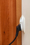 Power socket outlet with electric plug Royalty Free Stock Photos