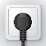 Power socket with plug Stock Photos