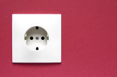 Power Socket on a wall Royalty Free Stock Photography