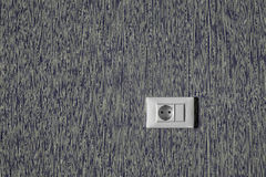 Power socket in the wall. Royalty Free Stock Photo