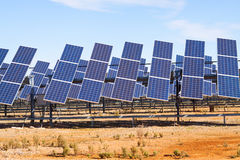 Power solar panel system Stock Photography