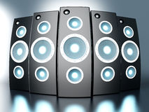 Power Speakers Royalty Free Stock Images