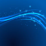 Power speed abstract modern blue swoosh Royalty Free Stock Image