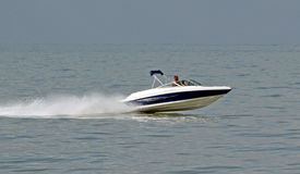 Power speed boat. Photo of a power speed boat on the kent coast of whitstable. photo taken 19th august 2015 ideal for sailing,water sports and hobbies etc stock photos
