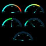 Power or Speed Meter Dashboard Gauge Royalty Free Stock Photos
