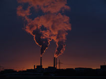 Power station 001. Power station at sunset. January 2006 Stock Photography
