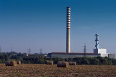 Power station. Powerhouse close to the Mincio river in Italy Stock Images