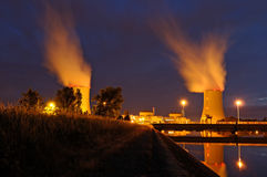 Power station. In night, (in the south west of France Stock Image