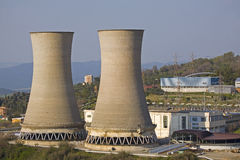 Power station. In Larderello in Tuscany Royalty Free Stock Image