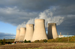 Power Station. A coal fired electric power station Royalty Free Stock Photography