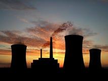 Power station. Over orange sky (see more in my portfolio Stock Photo