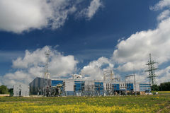 Power station. For Manufactory royalty free stock photos