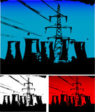 Power Station. Vector illustration of power station Stock Photo