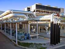 Power Station. Main power station in a technologic park from Majorca Royalty Free Stock Photo