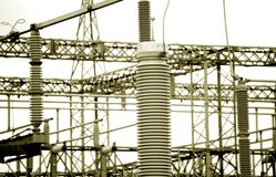 Power station. Detail of a power station Royalty Free Stock Images